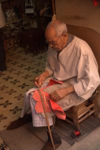 Vendedor de babuchas en Marrakech